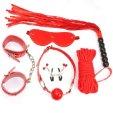 6 Piece Red Bondage Kit